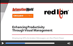 Enhance Productivity Through Visual Management: Displaying KPIs & Messages on the Plant Floor