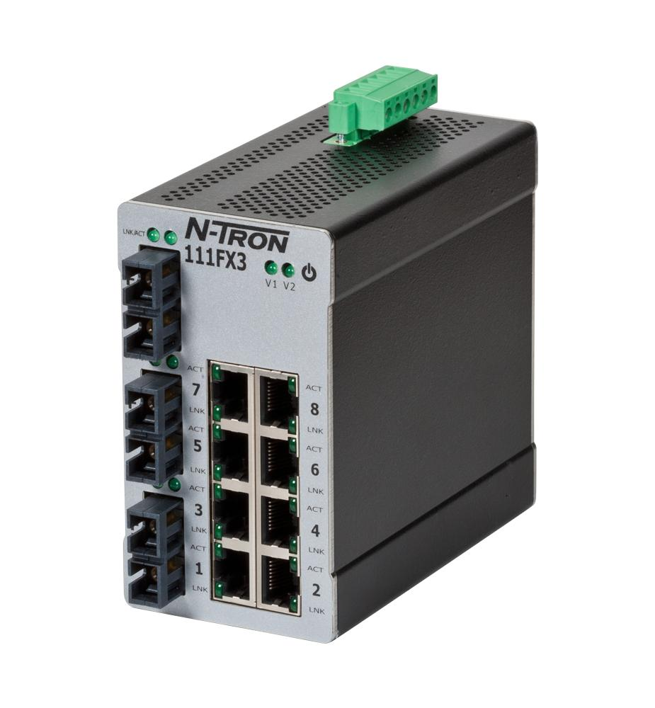 111fx3unmanaged Industrial Ethernet Switch Sc 15km Red Lion